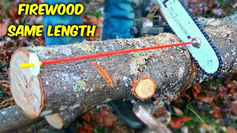 How To Cut Firewood The Same Length