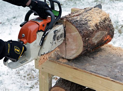 How To Cut Logs Into Firewood With A Chainsaw
