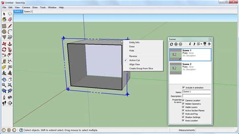 How To Cut Section In Sketchup