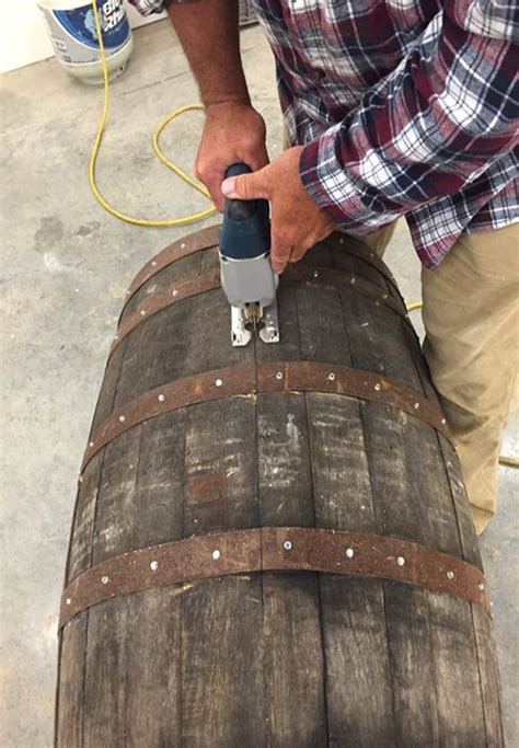 How To Cut Whiskey Barrel In Half Lengthwise