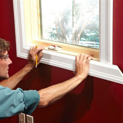 How To Cut Window Trim And Install