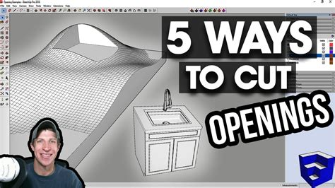 How To Cut Windows In Sketchup
