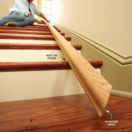 How To Cut Wood Handrail For Stairs