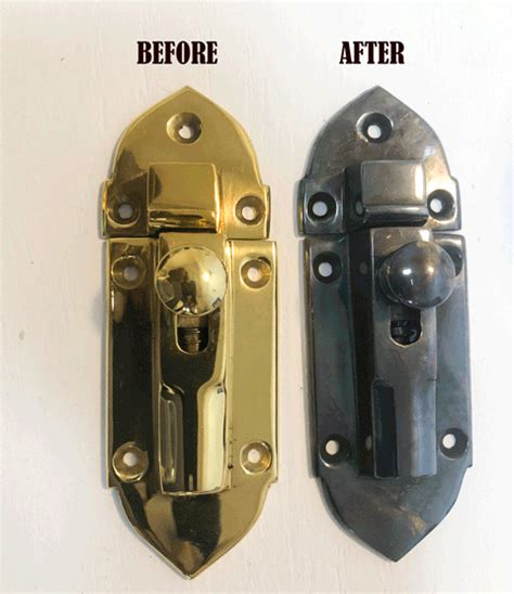 How To Darken Brass Hardware