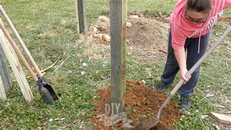 How To Dig A Post Hole By Hand