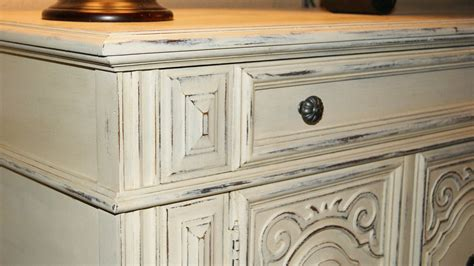 How To Distress Antique White Furniture