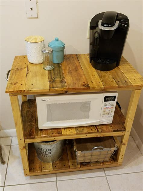 How To Diy Pallet Microwave Stand