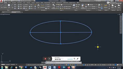 How To Do An Ellipse Autocad