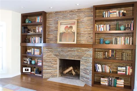 How To Do Built In Bookshelves Around Fireplace