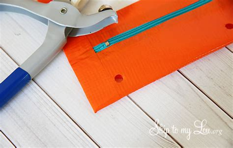 How To Do Grommets For Scrapbooking