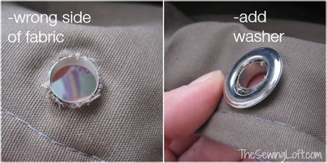 How To Do Grommets On Fabric