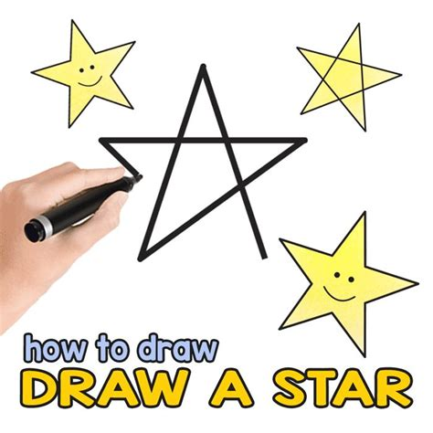 How To Draw A 5 Point Star Step By Step