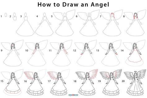 How To Draw A Angel Step By Step For Kids