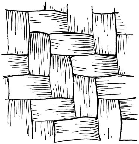 How To Draw A Basket Weave Pattern