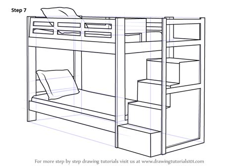 How To Draw A Bunk Bed Cartoon Step By Step