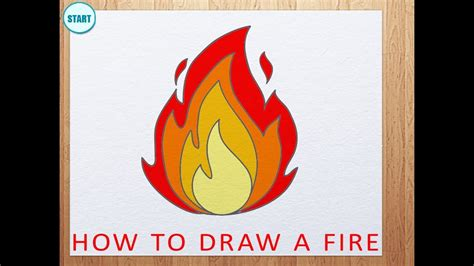 How To Draw A Cartoon Fireplace Step By Step