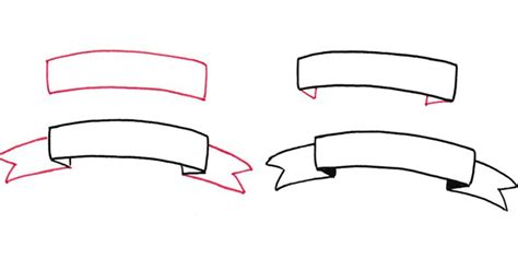 How To Draw A Curved Banner