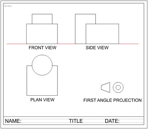How To Draw A Cylinder First Angle Projection