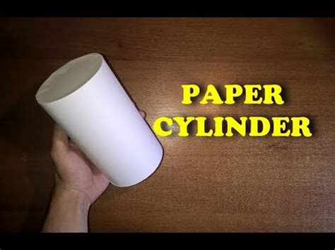 How To Draw A Cylinder On Paper