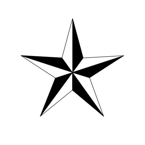How To Draw A Five Point Star With Double Shading