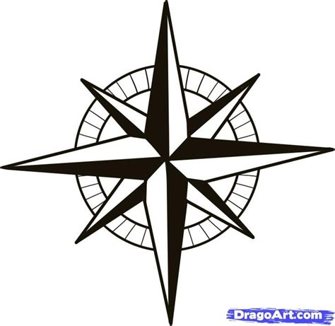 How To Draw A Nautical Star Without A Compass
