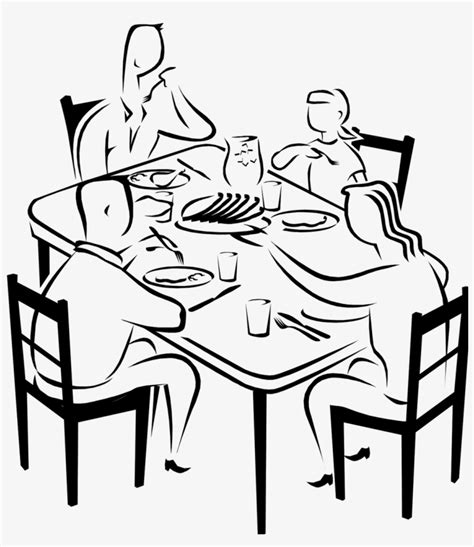 How To Draw A Person In A Chair Eating