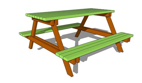 How To Draw A Picnic Table Easy Tricks