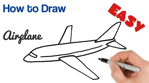 How To Draw A Plane Easy