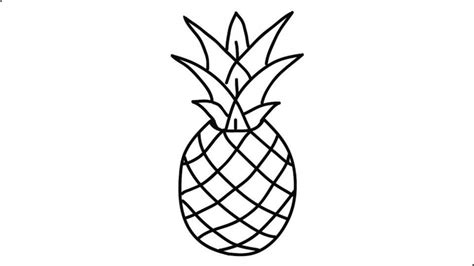 How To Draw A Small Pineapple
