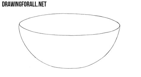 How To Draw An Oval Bowl