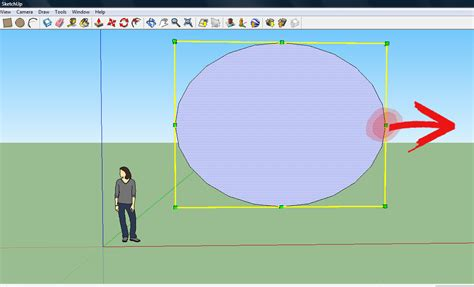 How To Draw An Oval Using Sketchup