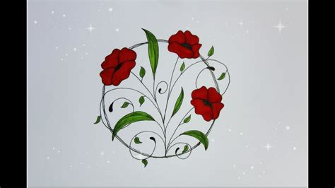 How To Draw Designs Flowers
