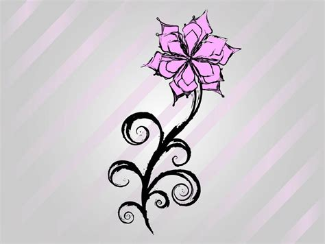 How To Draw Flower Designs On Paper