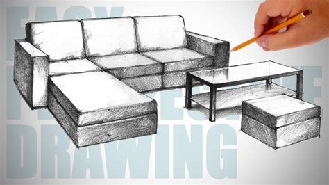 How To Draw Furniture Easy