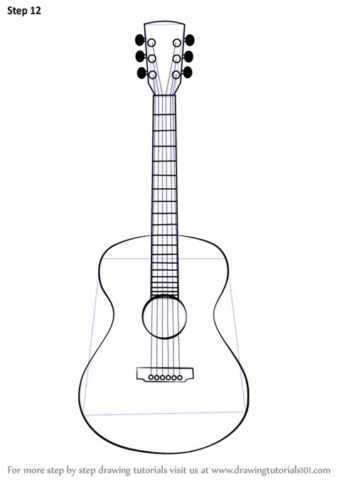 How To Draw Guitar Plans