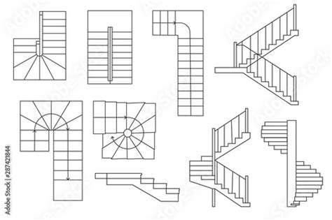 How To Draw Stairs Top View