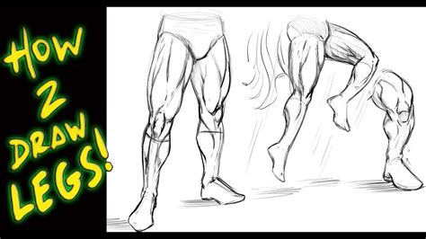 How To Draw Strong Legs Cartoon