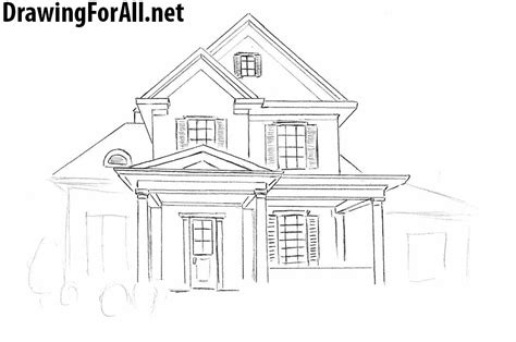 How To Draw The Front Of A House