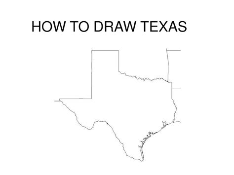 How To Draw The Texas State