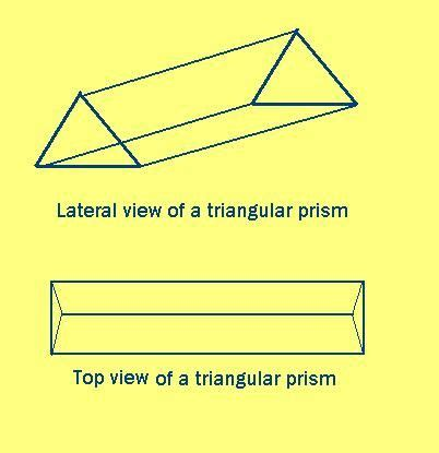 How To Draw The Top View Of A Triangular Prism