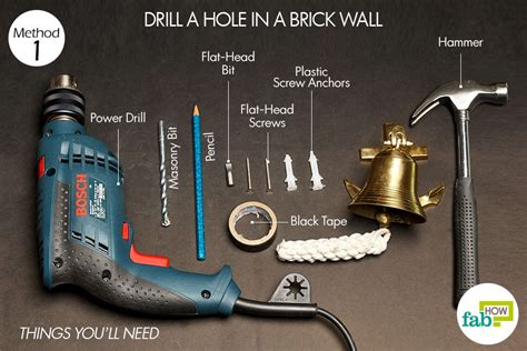 How To Drill A 2 Inch Hole Through A Brick Wall