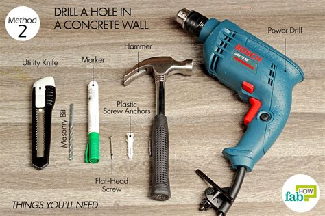 How To Drill A Hole For A Screw In A Wall