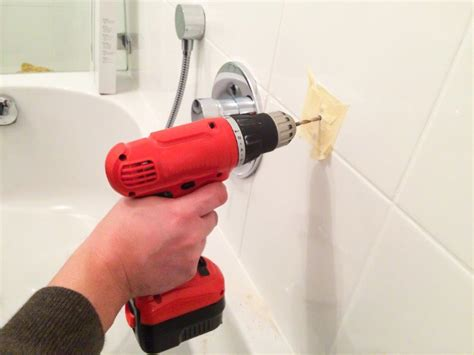 How To Drill Hole In Wood Without Drill Into Tile