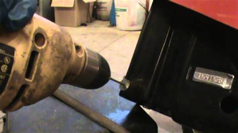 How To Drill Out A Bolt Hardened