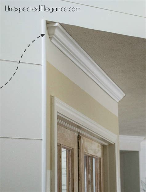 How To End Crown Molding To Tile