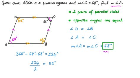 How To Figure Angles On Parallelogram