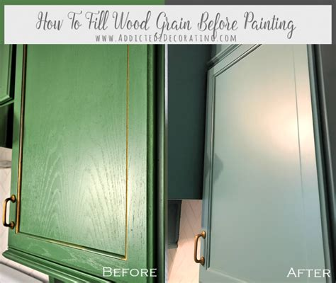 How To Fill Wood Grain Before Painting