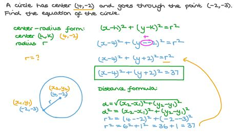 How To Find The Center And Radius Of A Circle Given Two Points