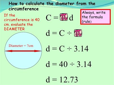 How To Find The Diameter Of A Circle Equation