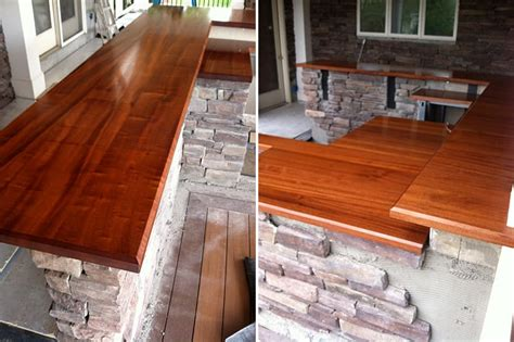 How To Finish A Cedar Bar Top